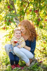 Portrait jeune femme avec son bébé